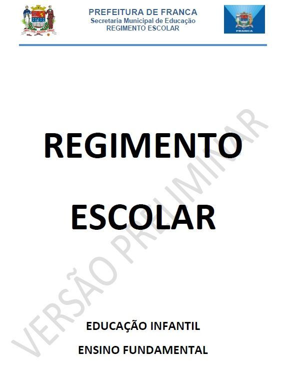 regimento Interno Educaçao Infantil e ensino fundamental